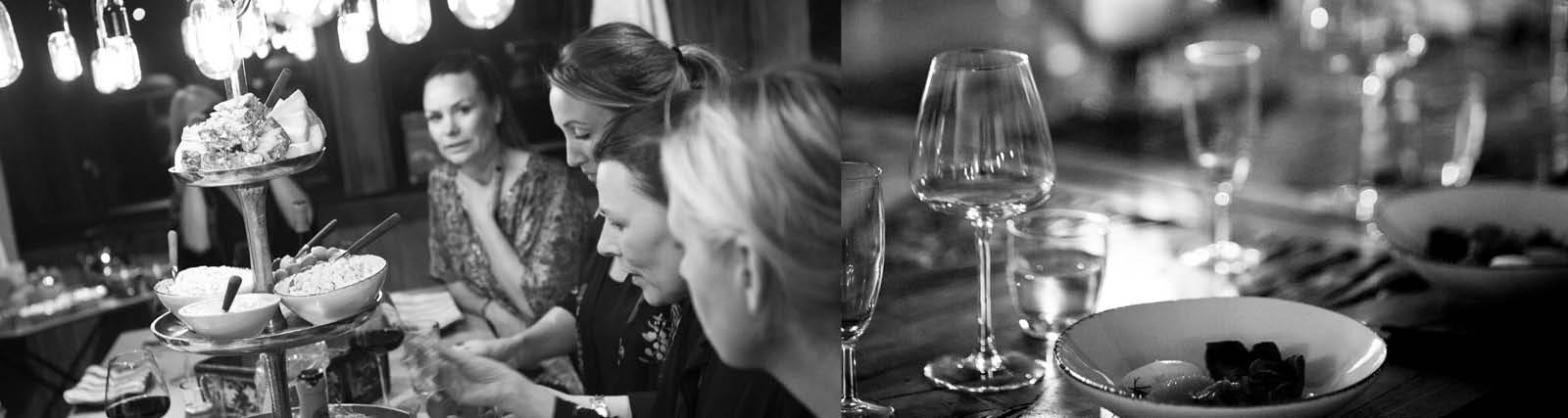 Kvinnor som äter middag